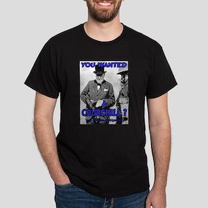 Winston Churchill Cigar Dark T-Shirt