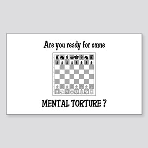 Chess - Mental Torture Rectangle Sticker