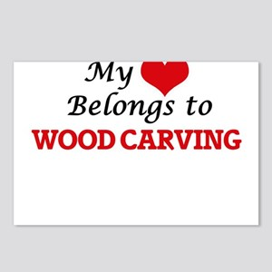 My heart belongs to Wood Postcards (Package of 8)