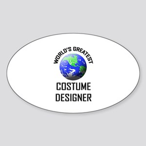 World's Greatest COSTUME DESIGNER Oval Sticker
