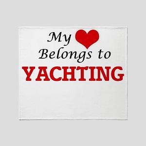 My heart belongs to Yachting Throw Blanket