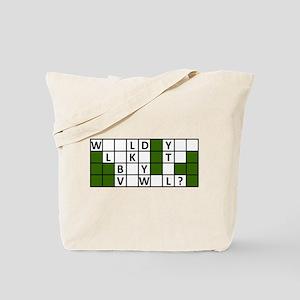 buy_a_vowel_dark Tote Bag