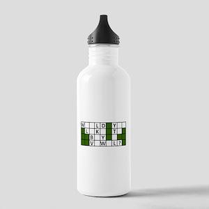 buy_a_vowel_dark Water Bottle
