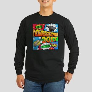 Class of 2017 Comic Book Long Sleeve Dark T-Shirt