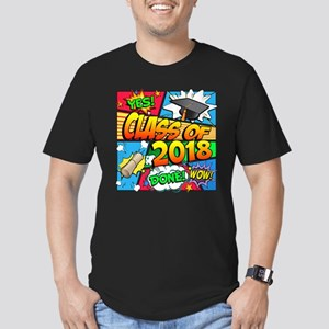 Class of 2018 Comic Bo Men's Fitted T-Shirt (dark)