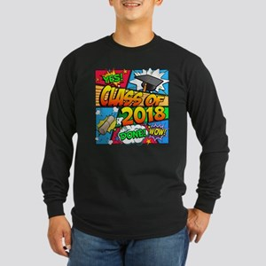 Class of 2018 Comic Book Long Sleeve Dark T-Shirt
