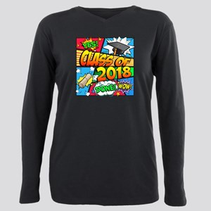 Class of 2018 Comic Book Plus Size Long Sleeve Tee