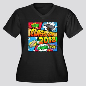 Class of 201 Women's Plus Size V-Neck Dark T-Shirt