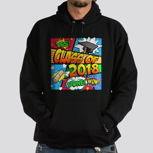 Class of 2018 Comic Book Hoodie (dark)