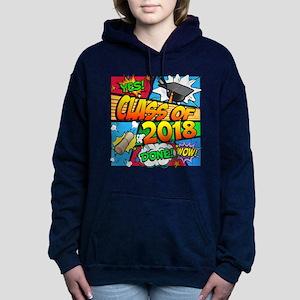 Class of 2018 Comic Book Women's Hooded Sweatshirt