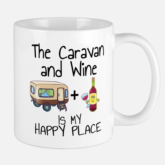Caravan and Wine is My Happy Place Mugs
