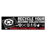 recycle your bumper sticker