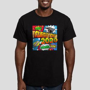 Class of 2020 Comic Bo Men's Fitted T-Shirt (dark)