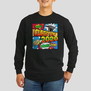 Class of 2020 Comic Book Long Sleeve Dark T-Shirt