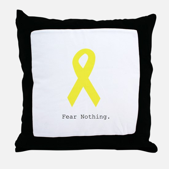Yellow. Fear Nothing Throw Pillow