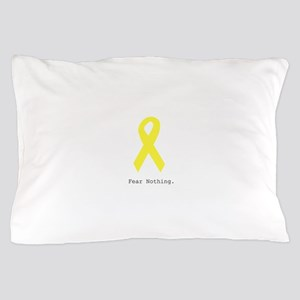 Yellow. Fear Nothing Pillow Case