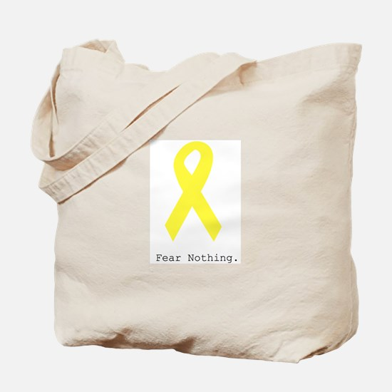 Yellow. Fear Nothing Tote Bag