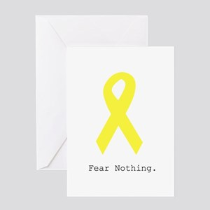 Yellow. Fear Nothing Greeting Cards
