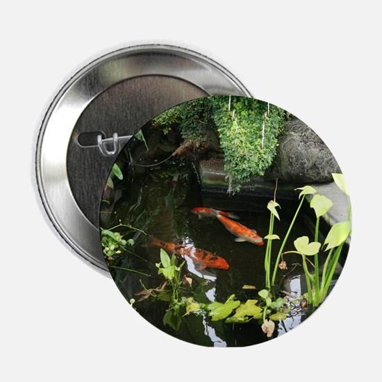 "Serene Koi Pond 2.25"" Button"