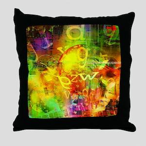 Digital Graffiti Throw Pillow