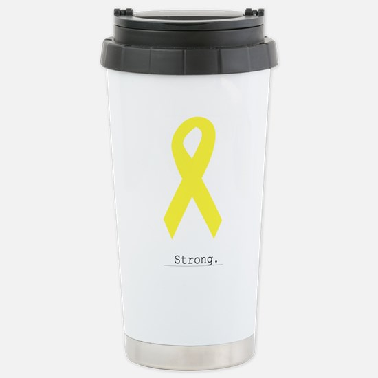 Yellow. Strong. Stainless Steel Travel Mug