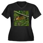 hyrax Women's Plus Size V-Neck Dark T-Shirt
