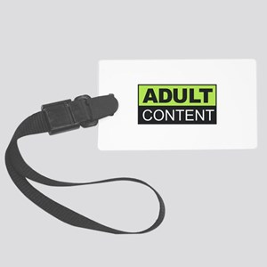 Adult Content Large Luggage Tag
