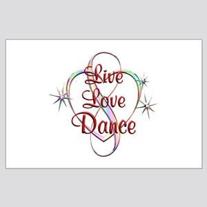 Live Love Dance Large Poster