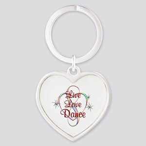 Live Love Dance Heart Keychain