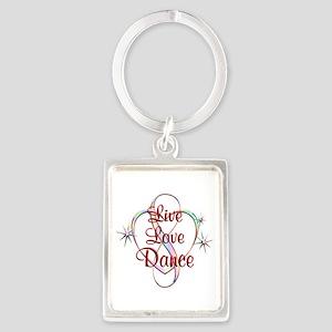 Live Love Dance Portrait Keychain