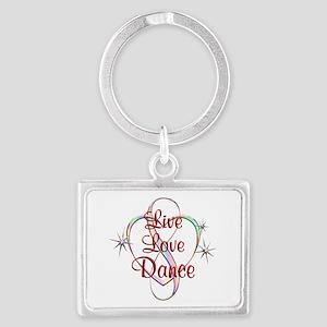 Live Love Dance Landscape Keychain