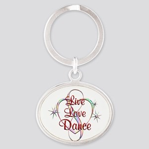 Live Love Dance Oval Keychain