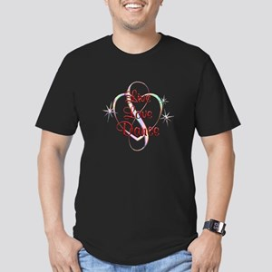 Live Love Dance Men's Fitted T-Shirt (dark)
