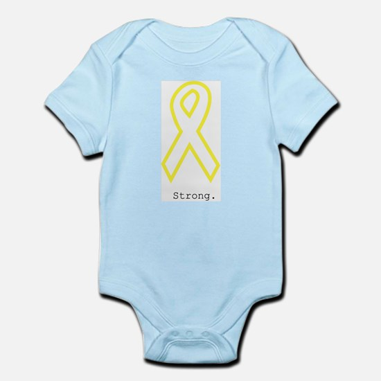 Yellow Ribbon. Strong. Body Suit