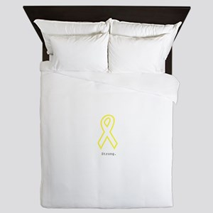 Yellow Ribbon. Strong. Queen Duvet