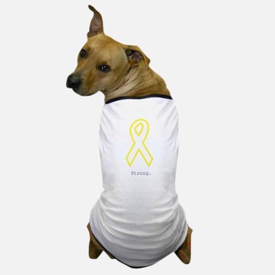 Yellow Ribbon. Strong. Dog T-Shirt