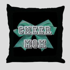 Green Cheer Mom Throw Pillow