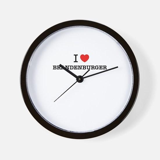 I Love BRANDENBURGER Wall Clock