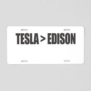 Tesla Edison Aluminum License Plate