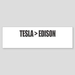 Tesla Edison Bumper Sticker