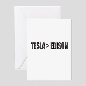 Tesla Edison Greeting Cards