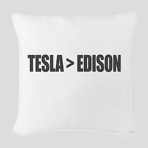 Tesla Edison Woven Throw Pillow