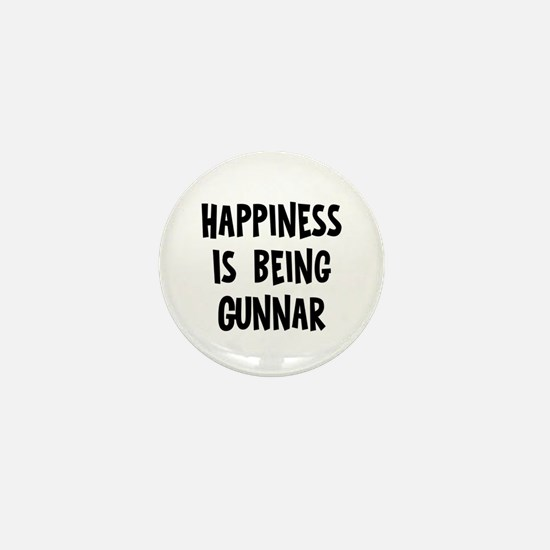 Happiness is being Gunnar Mini Button
