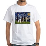 Starry / 4 Great Danes White T-Shirt