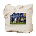 Starry / 4 Great Danes Tote Bag