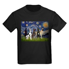 Starry / 4 Great Danes T