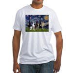 Starry / 4 Great Danes Fitted T-Shirt