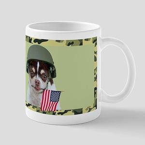 Military Chihuahua Dog Mugs