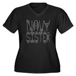 Navy Sister Women's Plus Size V-Neck Dark T-Shirt