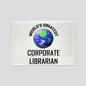 World's Greatest CORPORATE LIBRARIAN Rectangle Mag